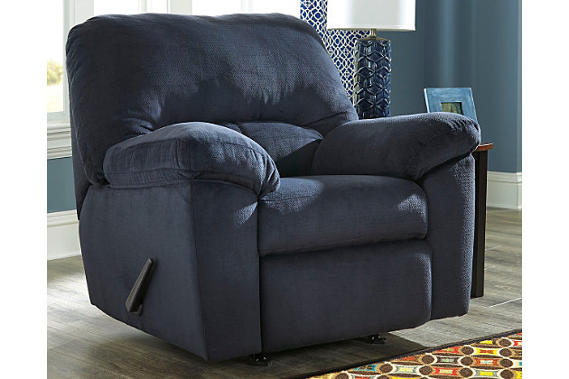 Dailey Recliner, Midnight, large