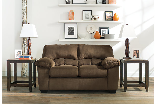 Dailey Loveseat, Chocolate, large