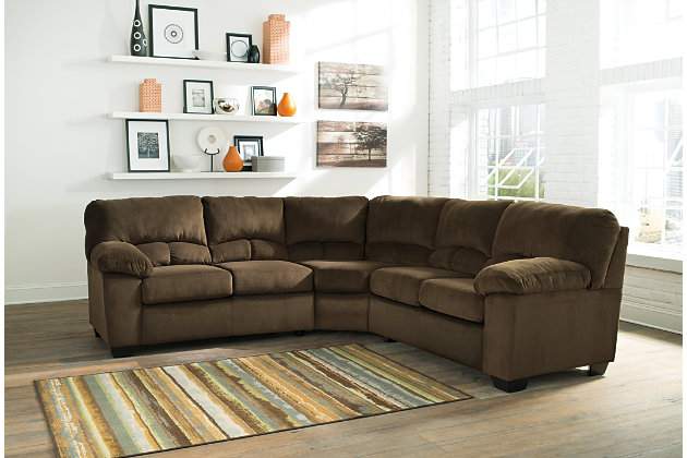 Ashley Furniture Sectional Chocolate dailey 2-piece sectional | ashley furniture homestore
