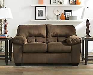 Dailey Loveseat, Chocolate, rollover