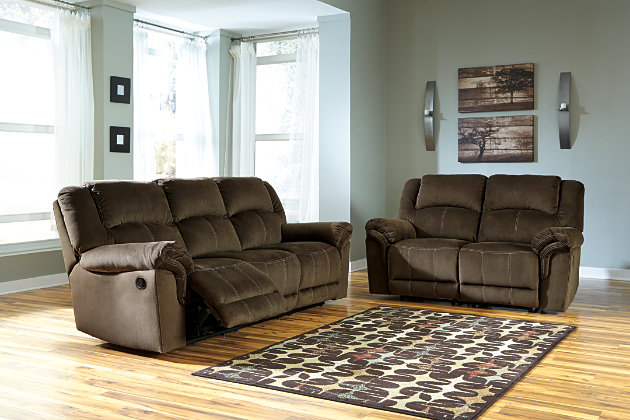 Quinnlyn Sofa and Loveseat by Ashley HomeStore, Brown