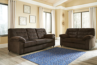 Gosnell Loveseat, Chocolate, large