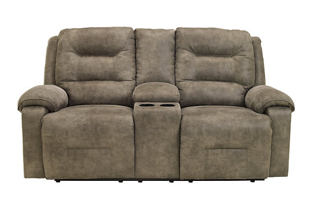Rotation Power Reclining Loveseat with Console, , large