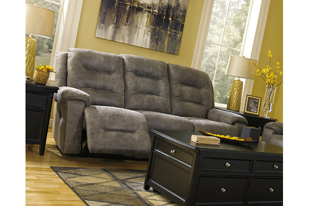 Rotation Reclining Sofa by Ashley HomeStore, Gray, Polyester