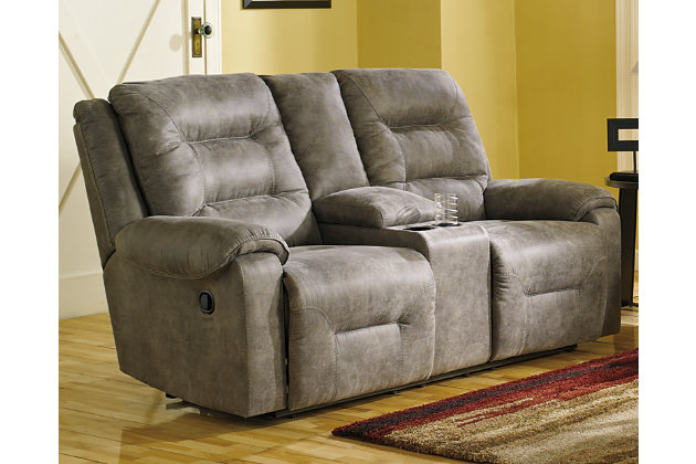 Rotation Reclining Loveseat with Console, , large