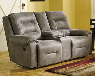 Rotation Power Reclining Loveseat with Console, , rollover