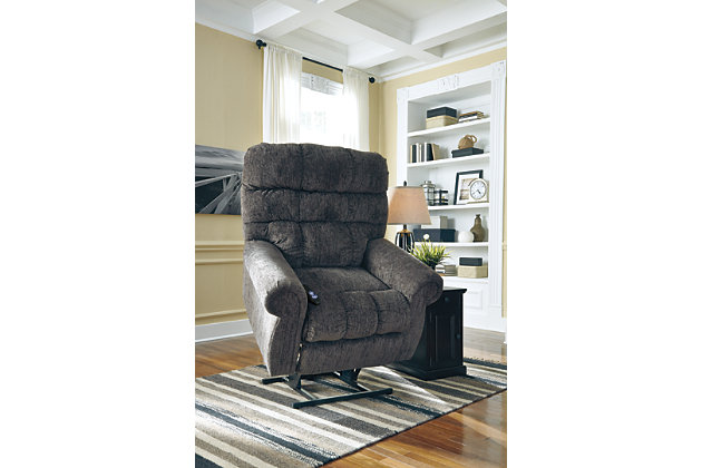 Ernestine Power Lift Recliner by Ashley HomeStore, Gray, ...