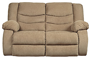 Tulen Reclining Loveseat, Mocha, large