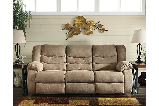 Tulen Reclining Sofa, Mocha, Large ...