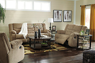 Tulen Reclining Sofa, Mocha, large