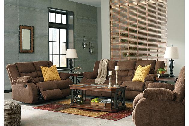 Tulen Reclining Sofa, Chocolate, large