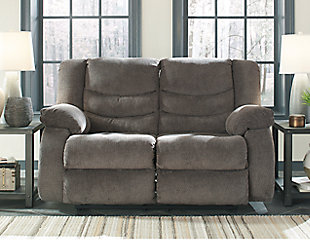 Tulen Reclining Loveseat, Gray, large