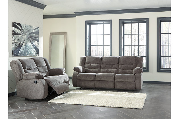 Tulen Reclining Sofa, Gray, large