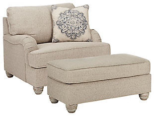 Dandrea Chair and Ottoman, , large