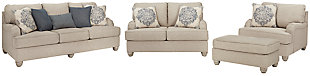 Dandrea Sofa, Loveseat, Chair and Ottoman, , large