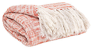 Cassbab Throw, Coral, large