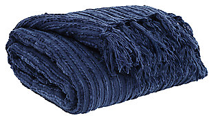 Noland Throw, Navy, large