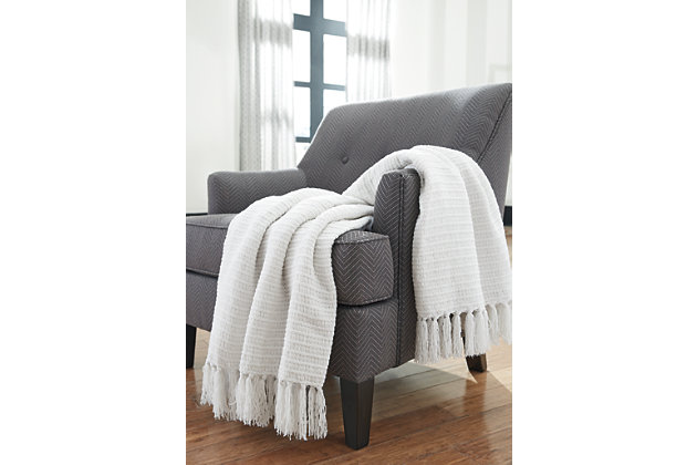 White Santino Throw by Ashley HomeStore