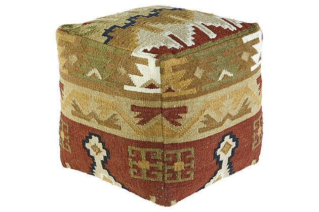 Abner Pouf by Ashley HomeStore, Multi