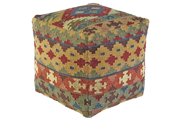 Adolfo Pouf by Ashley HomeStore, Multi