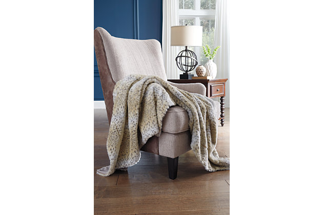 Tan Rolle Throw by Ashley HomeStore