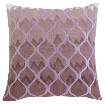 Ashley Stitched Pillow Cover, Purple