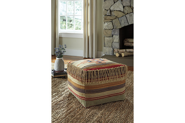 Multi-Color Bentlee Pouf by Ashley HomeStore