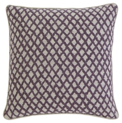 Stitched Pillow and Insert by Ashley HomeStore, Plum