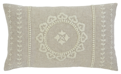 Ashley Embroidered Pillow, Antique
