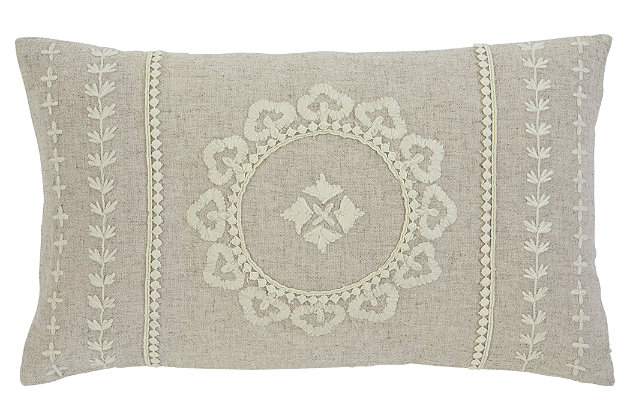 Embroidered Pillow, , large