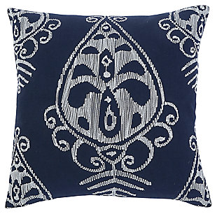Embroidered Pillow and Insert, , large