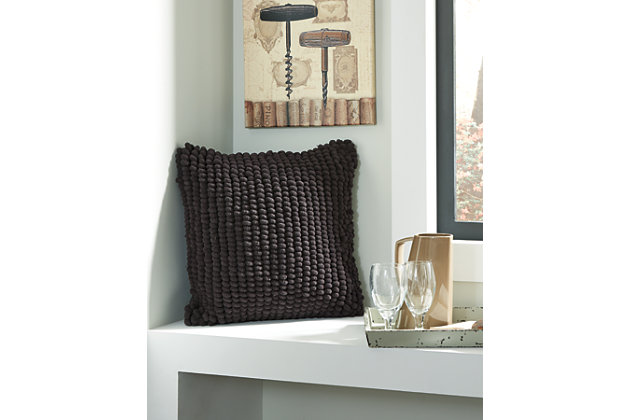 Black Lukas Pillow by Ashley HomeStore