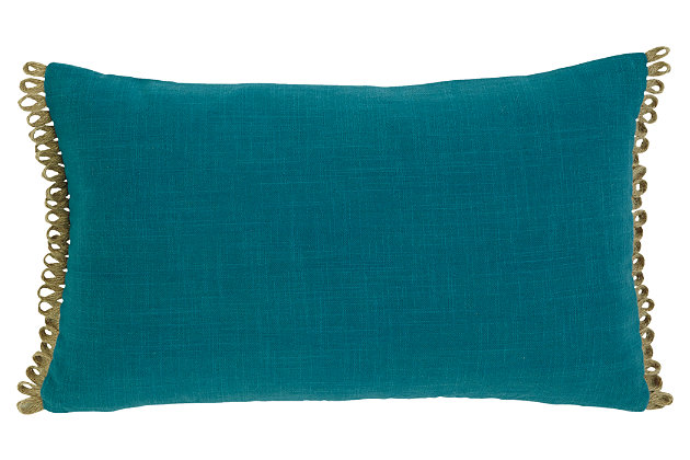 Solid Pillow by Ashley HomeStore, Turquoise