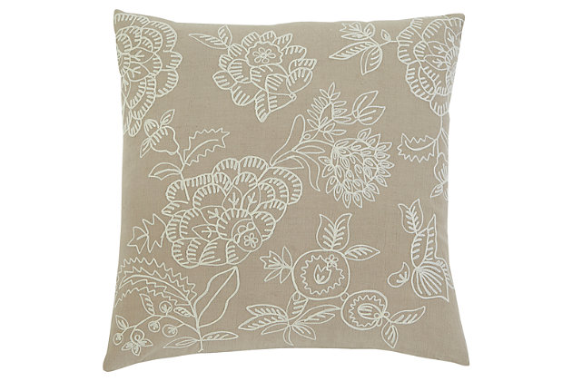 Embroidered Pillow and Insert