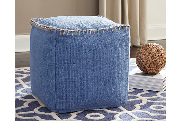Caius Pouf by Ashley HomeStore, Cotton (100 %)