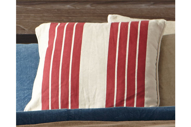 Striped Pillow and Insert by Ashley HomeStore, Red