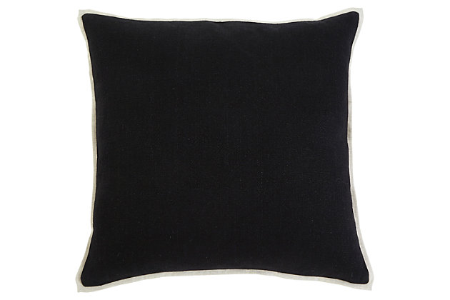 Black Solid Pillow and Insert by Ashley HomeStore