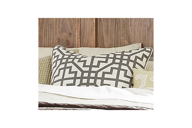 Geometric Pillow and Insert by Ashley HomeStore, Gray