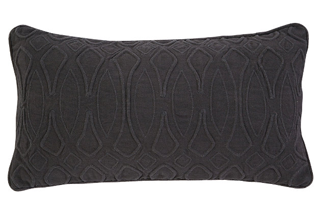 Black Solid Pillow by Ashley HomeStore