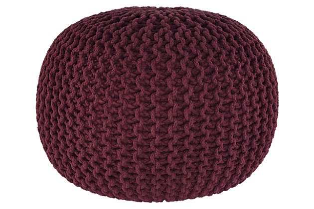 Nils Pouf by Ashley HomeStore, , Cotton (100 %)