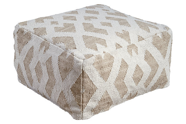 Badar Pouf by Ashley HomeStore, , Cotton (100 %)