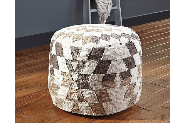 Abraham Pouf by Ashley HomeStore, , Cotton (100 %)