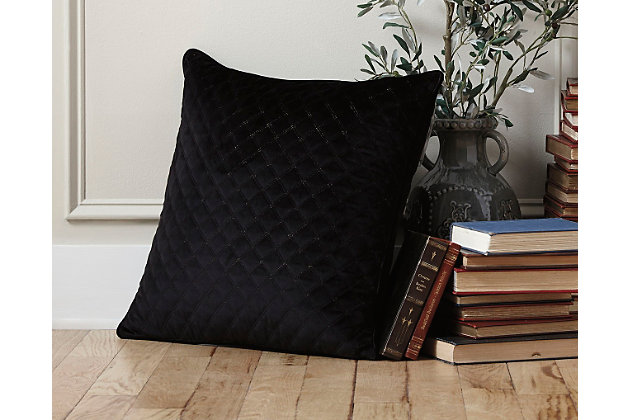 Black Piercetown Pillow by Ashley HomeStore, Polyester (100 %)