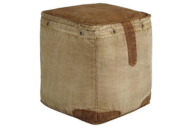 Cinnamon Pouf, , large