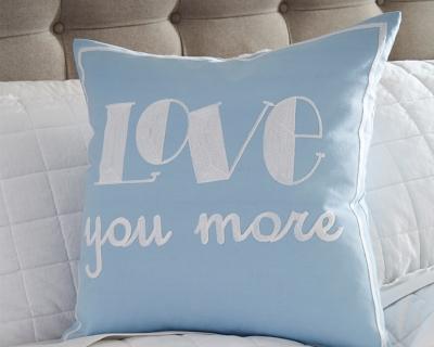 Ashley Love You More Pillow, Blue
