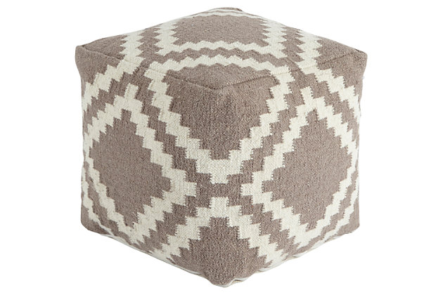 Geometric Pouf, , large
