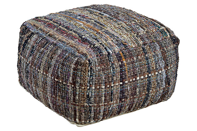 Ameya Pouf by Ashley HomeStore, Khaki