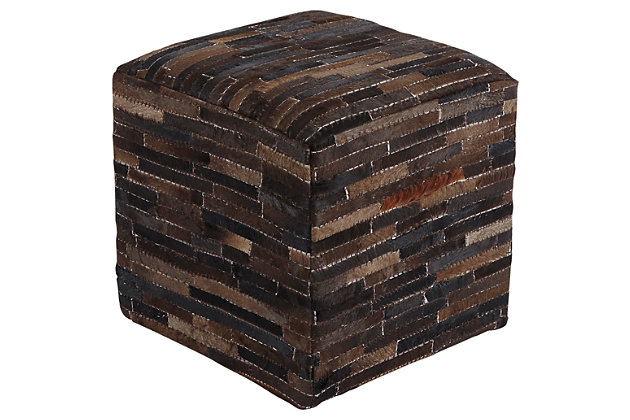 Longstanding Cowhide Pouf Product Photo