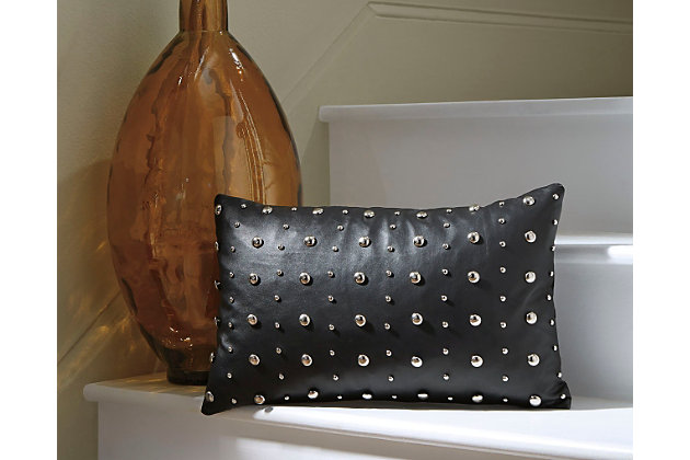 Gray Keizer Pillow by Ashley HomeStore, Polyester (100 %)