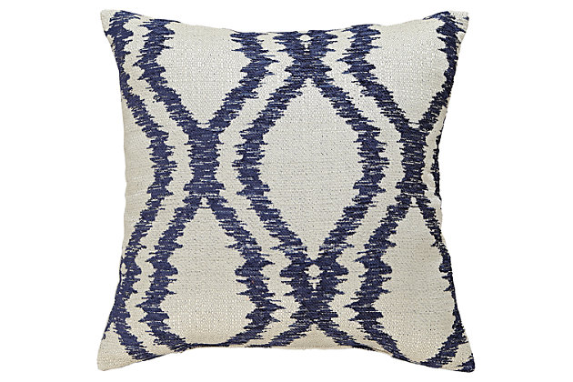 Blue Estelle Pillow by Ashley HomeStore, Polyester (100 %)